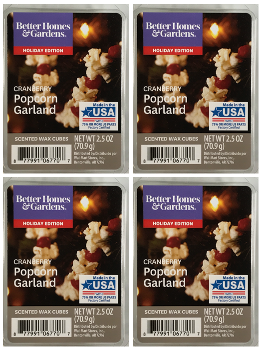 Cranberry Popcorn Garland 4-pack